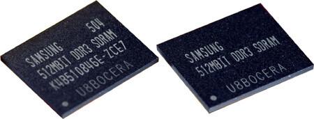 Samsung 512 Mb DDR3-Speicherchips