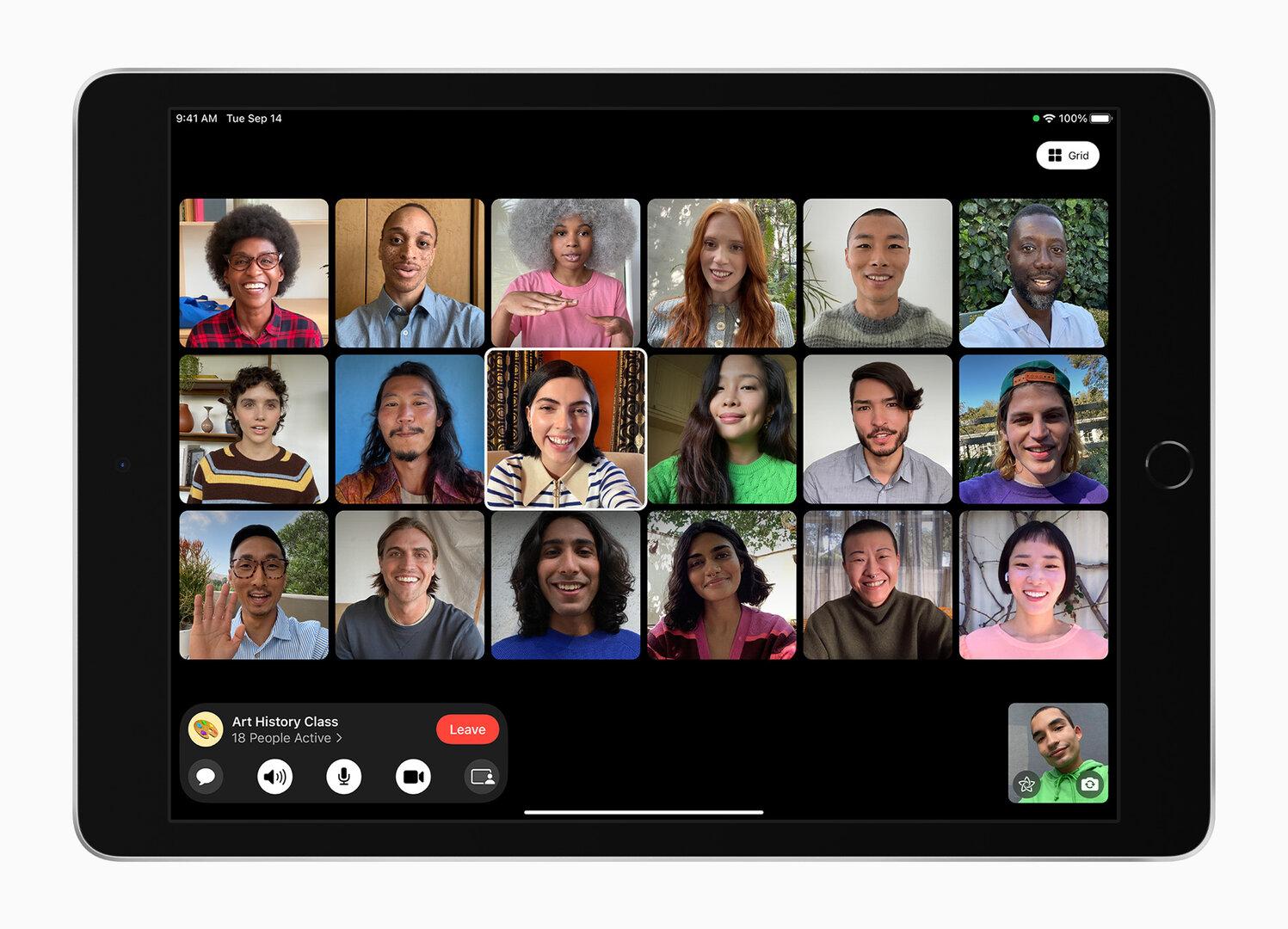 Das neue iPad 9. Generation bleibt beim eckigen Display mit breiten Rändern