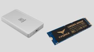 Team Group: Thunderbolt-SSD und PCIe-4.0-SSD mit PCIe-3.0-Speed