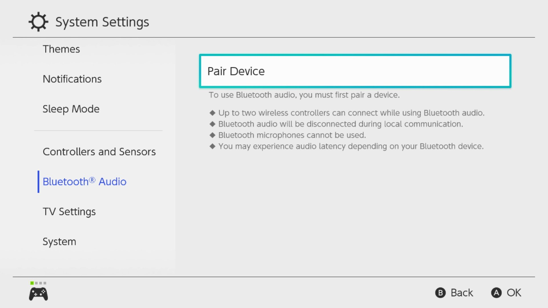 Interruptor de Nintendo con Bluetooth Audio Mid Ter