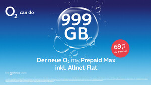 Neuer Prepaid-Tarif: 999 Gigabyte Daten kosten bei O2 69,99 Euro