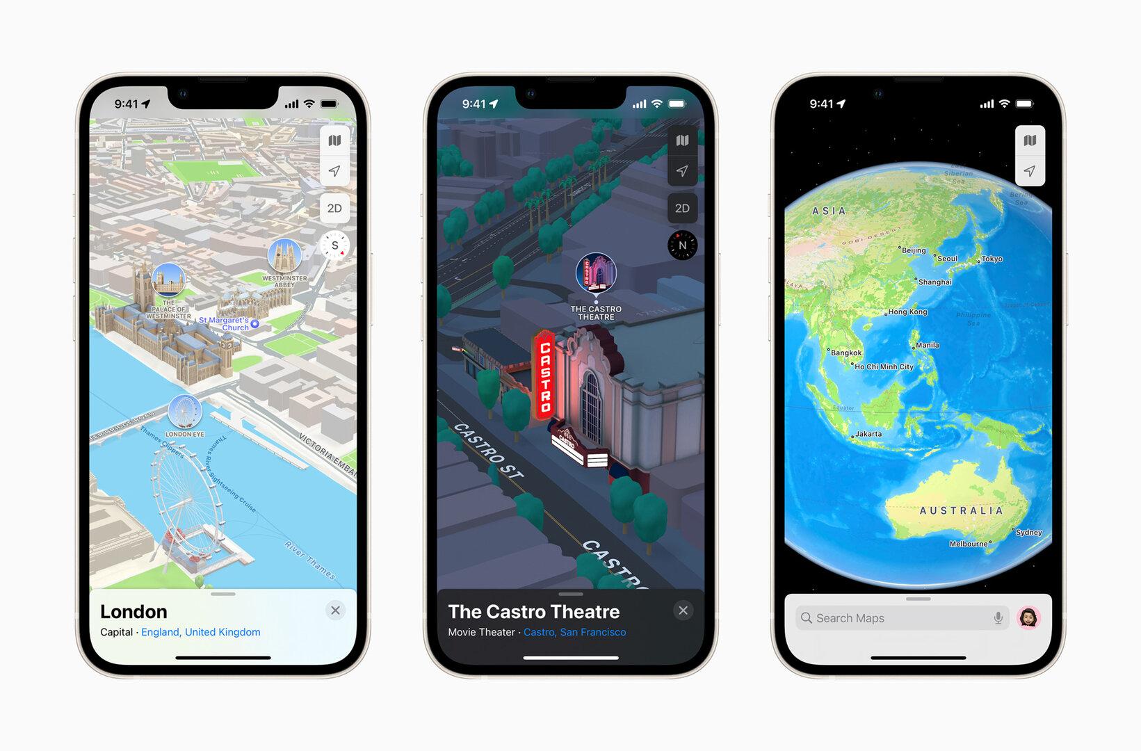 Nuevo mapa de Apple en Londres y San Francisco