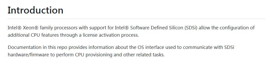 Perangkat Lunak Intel Pilihan Silikon (SDSi)