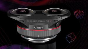 Für VR-Inhalte: Canon präsentiert RF5.2mm F2.8 L Dual Fisheye