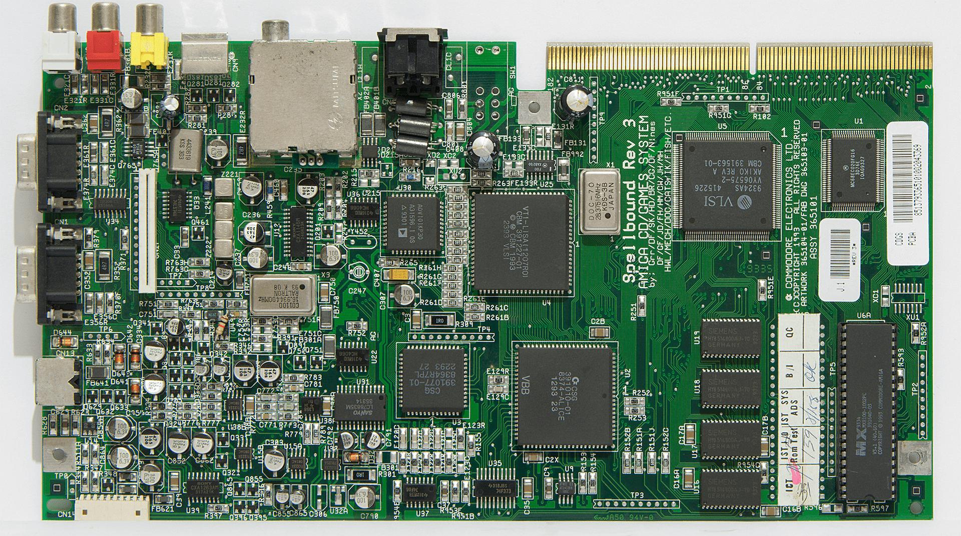 Hauptplatine des Amiga CD³²