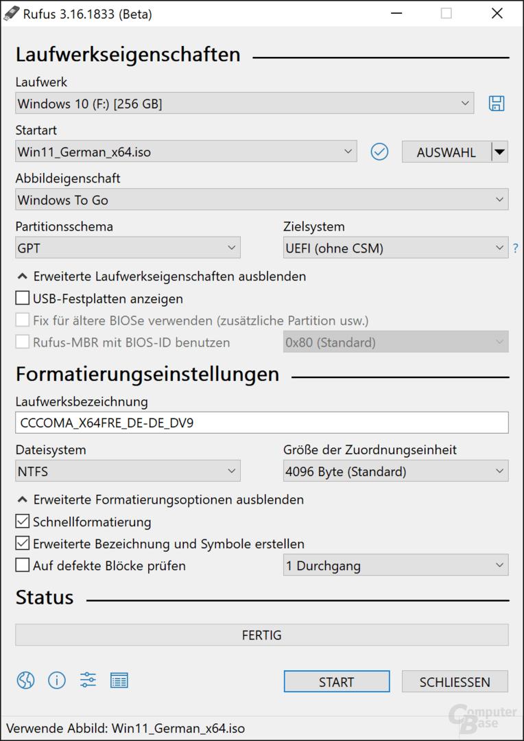 "Windows 11 als ""Windows To Go""-Installationsmedium"