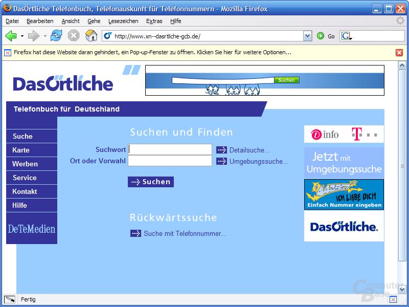 Umlaut-Domain Firefox 1.0.1