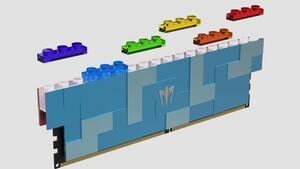 Galax Gamer RGB: DDR5-RAM mit Leiste für bunte Klemmbausteine