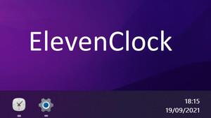 Windows 11: Sekundäre Anzeige erhält Uhr dank ElevenClock