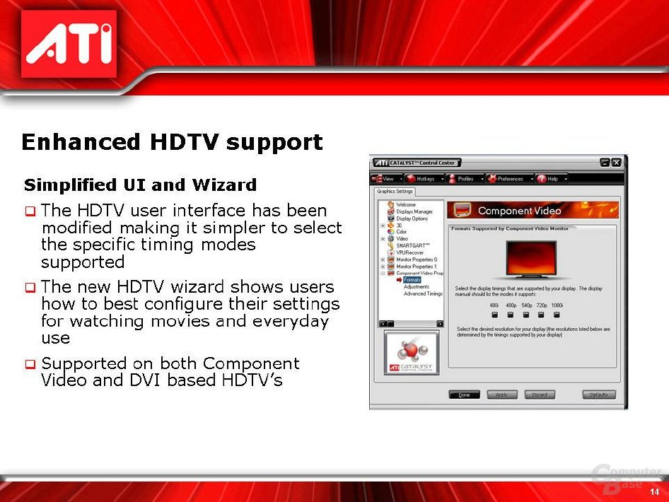 RS400 HDTV-Support