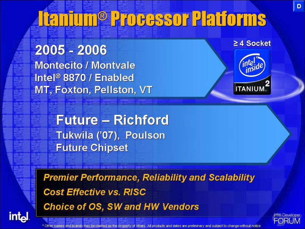 Itanium MP Plattformen
