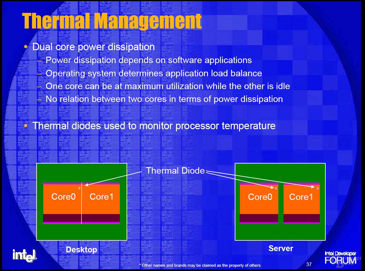 Temparaturmessung bei Dual-Core-Produkten