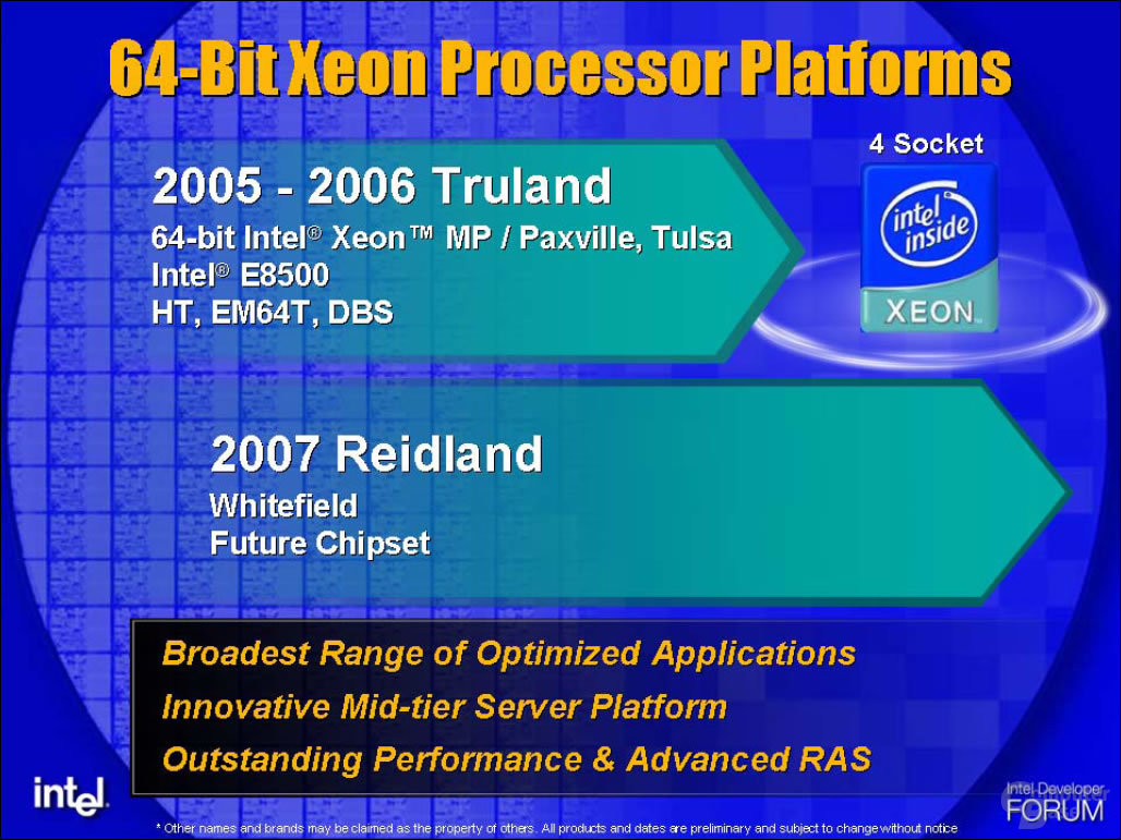 Intel Xeon MP Plattformen