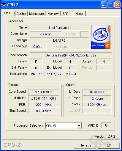 Pentium Extreme Edition mit 3,2 GHz