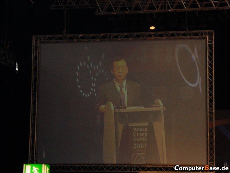 WCG2005 Samsung Euro Championchip Eröffnungsfeier - Rede von Hank Jeong (World Cyber Games)