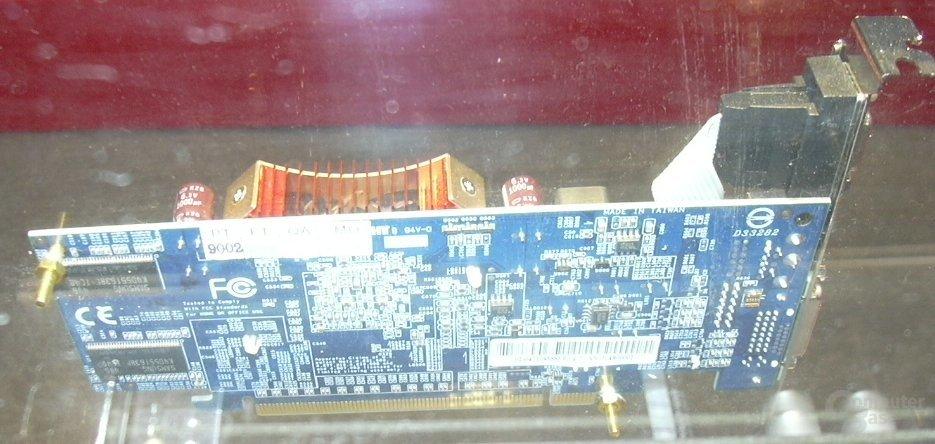 GeForce 6600 mit TSOP-II RAM Rückseite