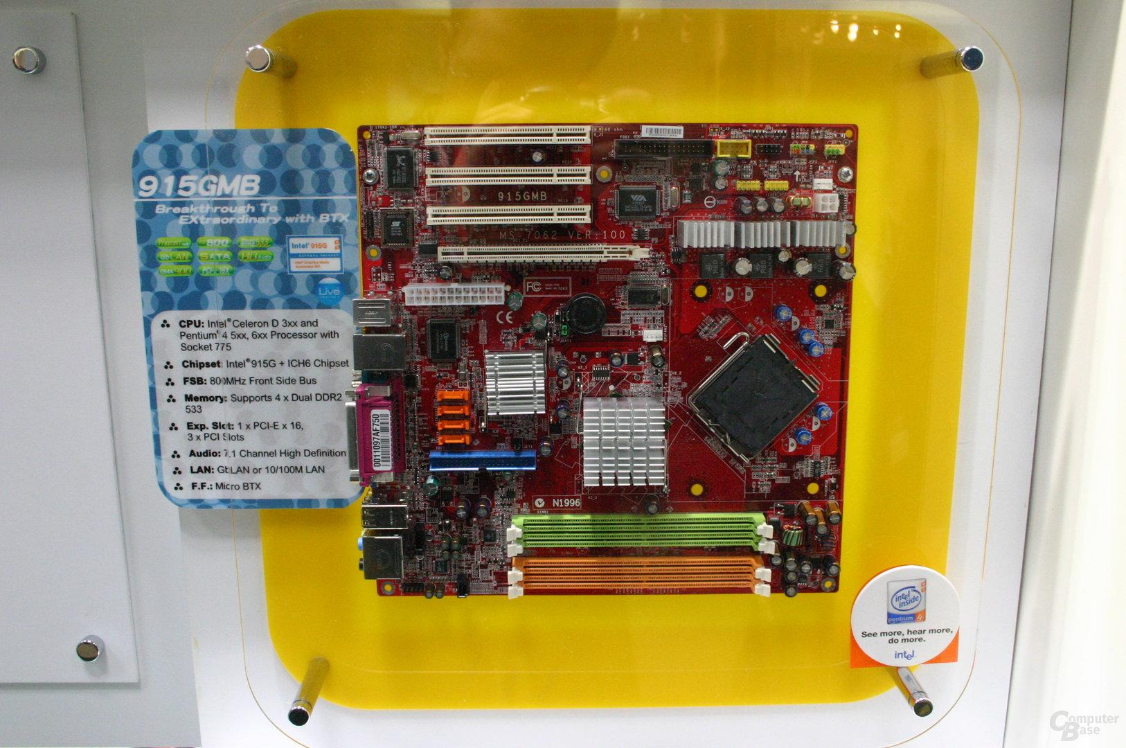 MSI 915GMB für Pentium-Prozessoren mit klassischem BTX-Layout