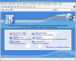 Startseite von Konqueror als Web-Browser