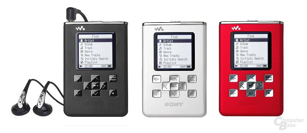 Sony NW-HD5 Farbvariationen
