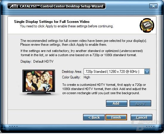 Catalyst 5.4 HDTV-Wizzard