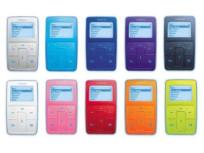 Creative Zen Micro 5 GB in diversen Farben