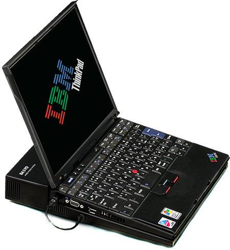 Sanyo Brennstoffzellen-Prototyp für IBM ThinkPad Notebooks