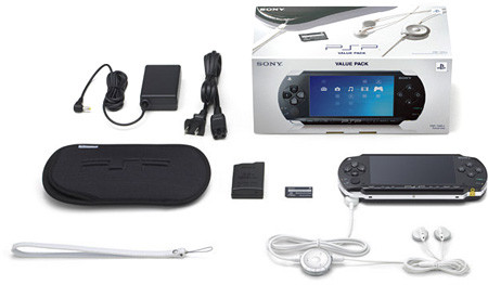 "PlayStation Portable ""Value Pack"" Lieferumfang"
