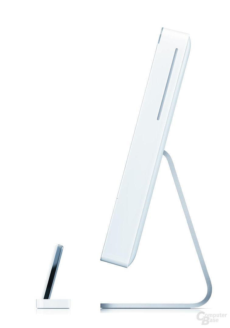 Seitenansicht iMac mit iPod