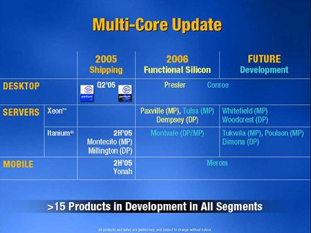 Intel Dual Core Update