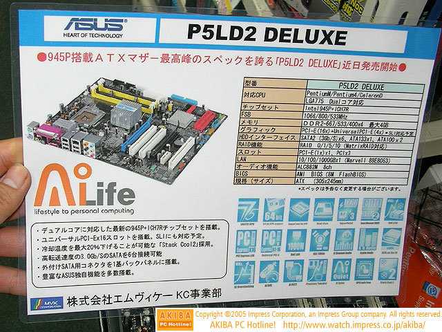 Asus P5LD2 Deluxe