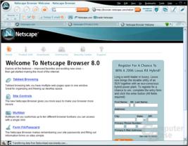Netscape 8.0 Startseite