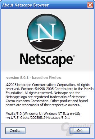 "Netscape 8.0.1 ""About""-Dialog"