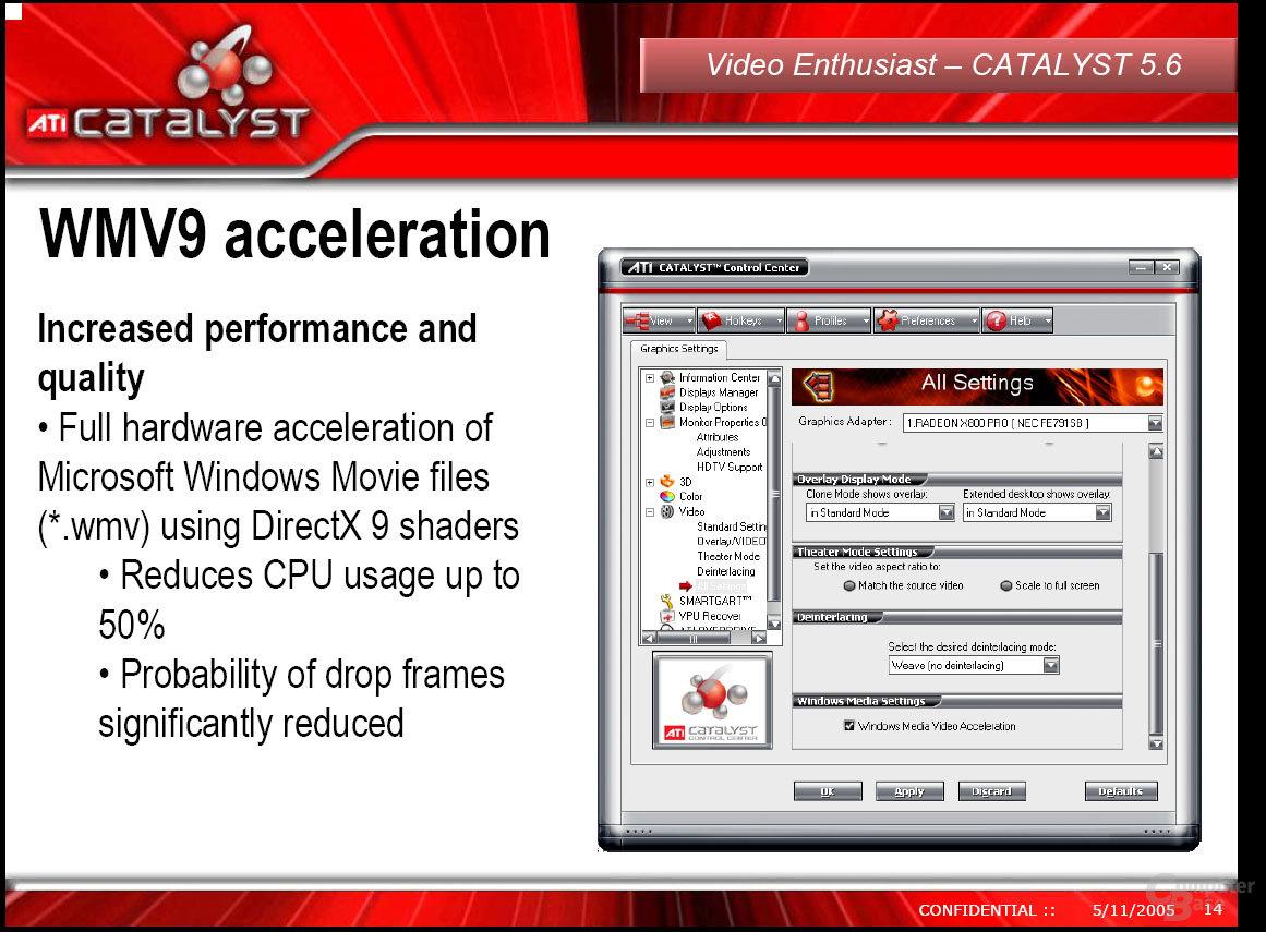 WMV9-Beschleunigung im Catalyst 5.6