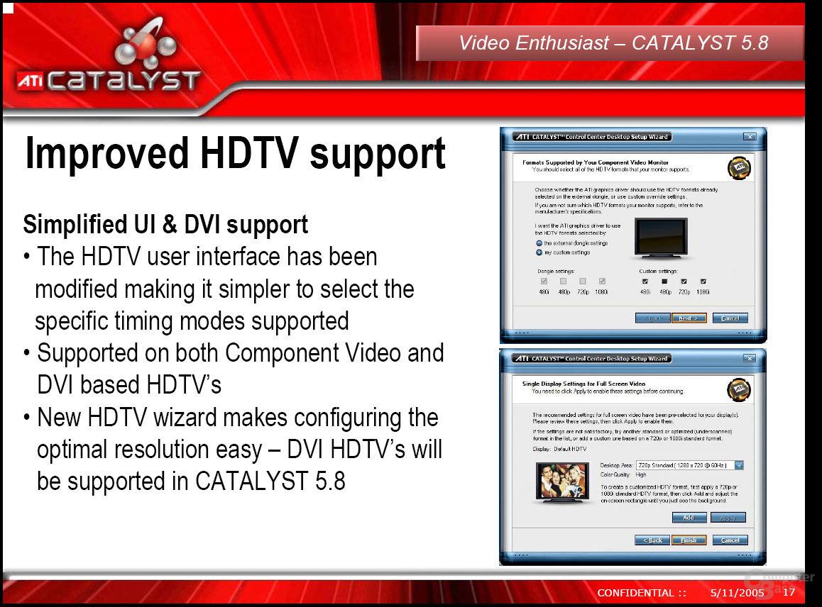 HDTV-Unterstützung im Catalyst 5.8
