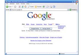 Internet Explorer 6.0 ohne MSN Toolbar