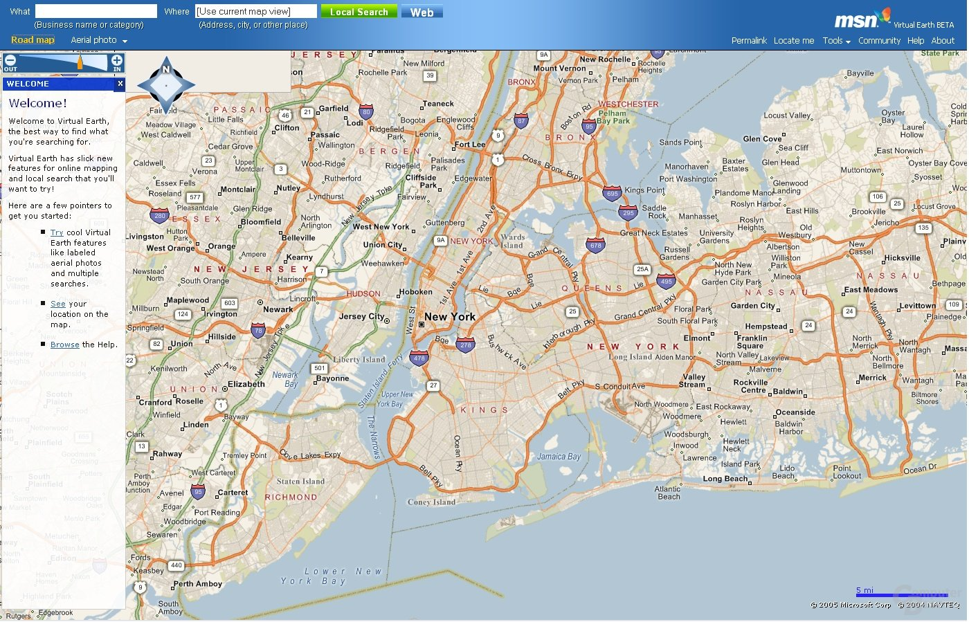 Virtual Earth - Road Map