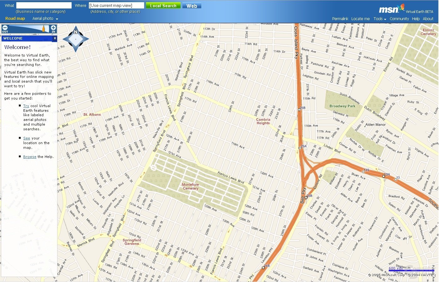 Virtual Earth - Road Maps