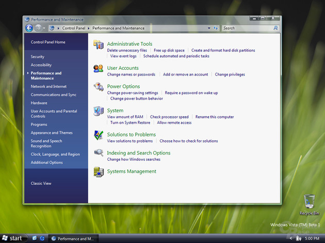 Windows Vista Beta 1