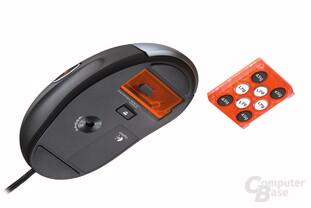 Unterseite der Logitech G5 Laser Mouse