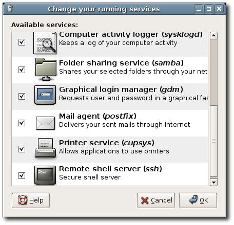 System-Dienste grafisch (de-)aktivieren