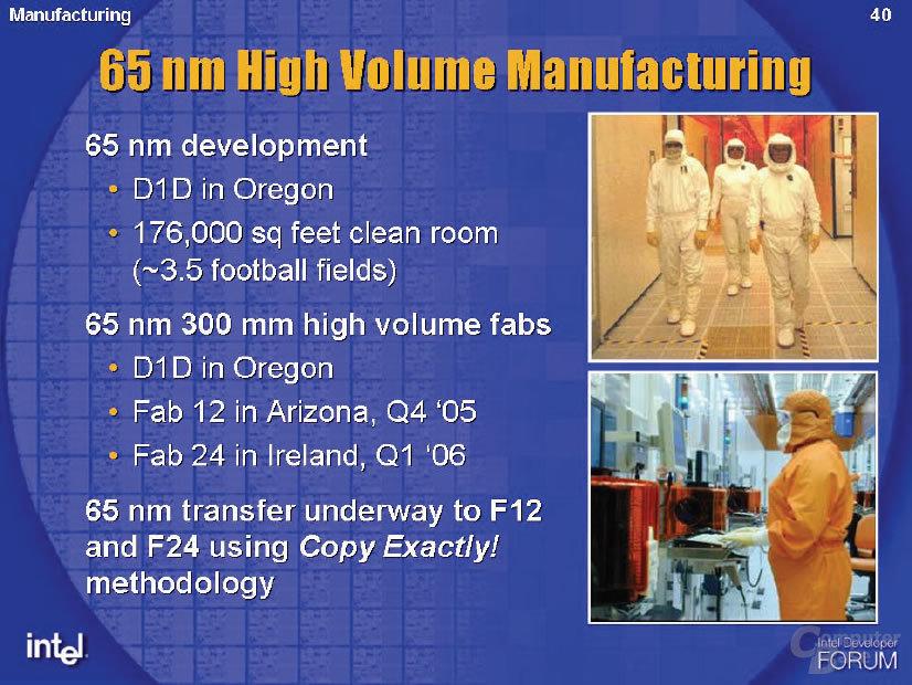 65 nm für Prozessoren (P1264) ist im Zeitplan