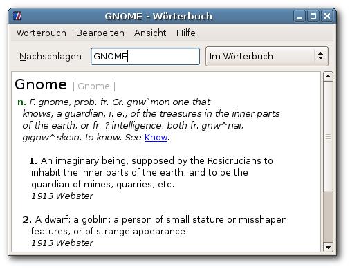 GNOME Wörterbuch