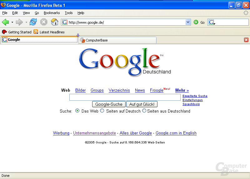 Firefox 1.5 Beta 1: Umordnen von Tabs erlaubt