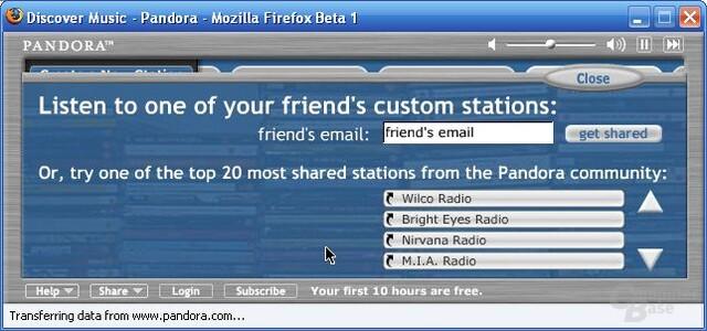 Stations teilen
