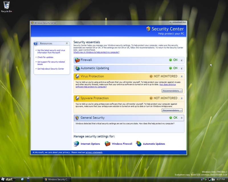 Windows Vista Build 5231, Quelle: Winsupersite.com
