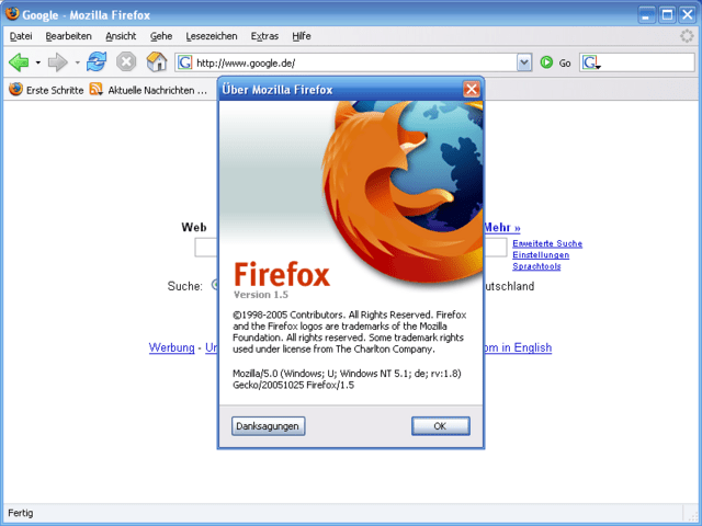 Firefox 1.5 Release Candidate 1