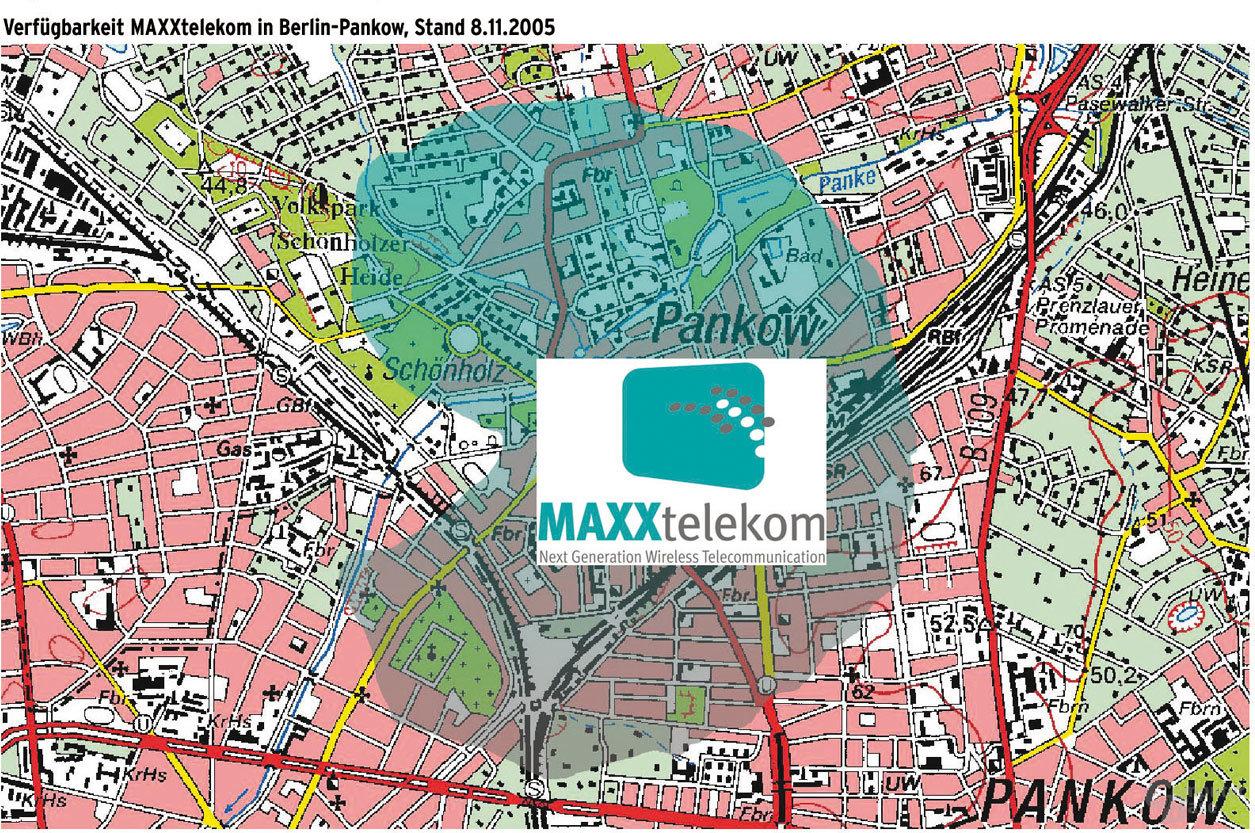 WiMAX-Verfügbarkeit in Berlin Pankow