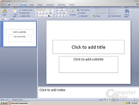 Windows Office PowerPoint 12 Pre-Beta 1 - Quelle: Winsupersite.com