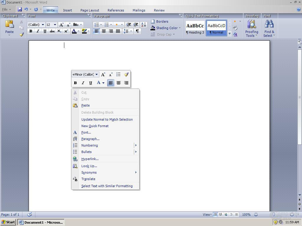 Windows Office Word 12 Pre-Beta 1 - Quelle: Winsupersite.com