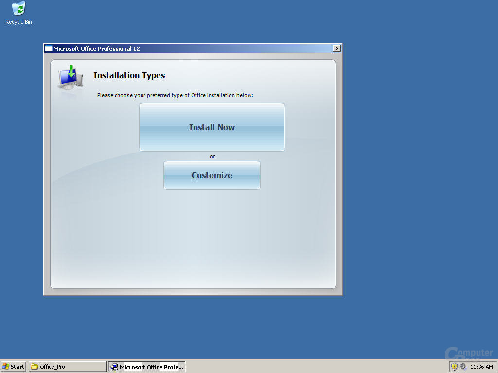 Windows Office 12 Pre-Beta 1 Install - Quelle: Winsupersite.com